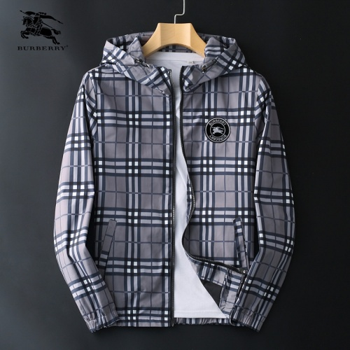 Burberry Jackets Long Sleeved Zipper For Men #830079