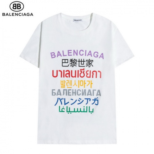 Balenciaga T-Shirts Short Sleeved O-Neck For Men #830097 $27.00, Wholesale Replica Balenciaga T-Shirts