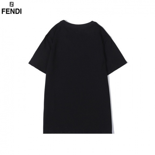 Replica Fendi T-Shirts Short Sleeved O-Neck For Men #830165 $29.00 USD for Wholesale
