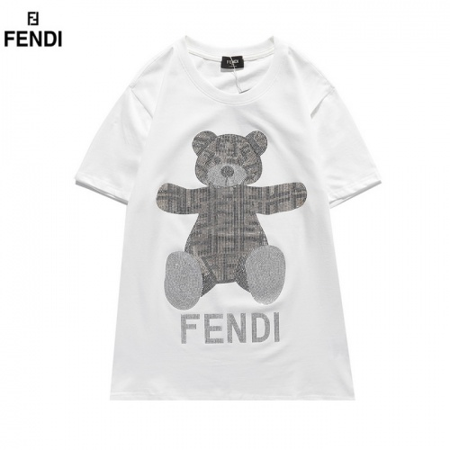 Fendi T-Shirts Short Sleeved O-Neck For Men #830166 $29.00, Wholesale Replica Fendi T-Shirts