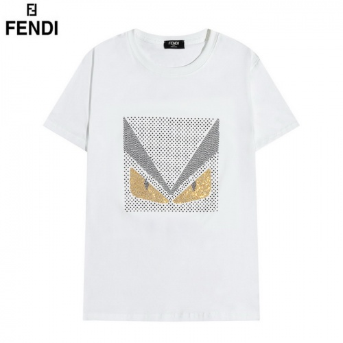Fendi T-Shirts Short Sleeved O-Neck For Men #830174 $29.00, Wholesale Replica Fendi T-Shirts