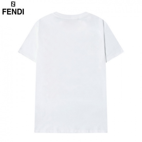 Replica Fendi T-Shirts Short Sleeved O-Neck For Men #830174 $29.00 USD for Wholesale