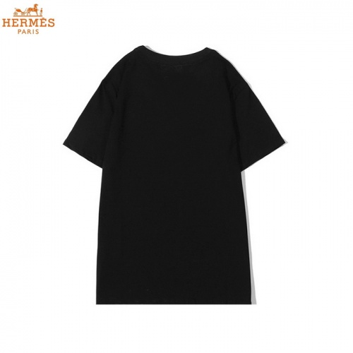 Replica Hermes T-Shirts Short Sleeved O-Neck For Men #830253 $27.00 USD for Wholesale