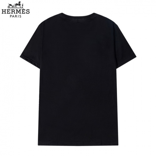 Replica Hermes T-Shirts Short Sleeved O-Neck For Men #830256 $27.00 USD for Wholesale