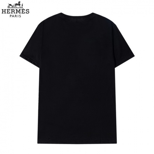 Replica Hermes T-Shirts Short Sleeved O-Neck For Men #830258 $29.00 USD for Wholesale