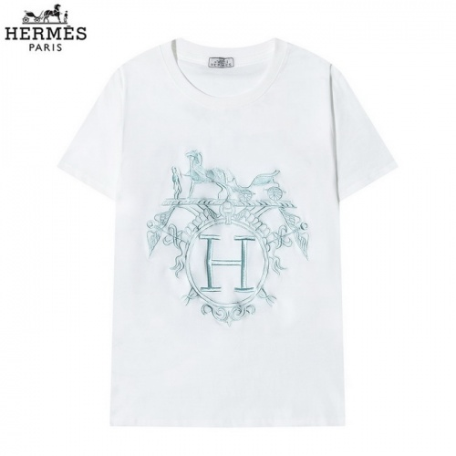 Hermes T-Shirts Short Sleeved O-Neck For Men #830259 $29.00 USD, Wholesale Replica Hermes T-Shirts