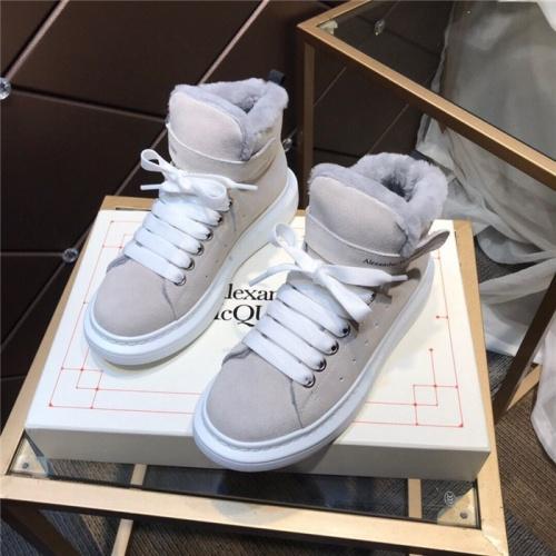 Alexander McQueen High Tops Shoes For Women #830304