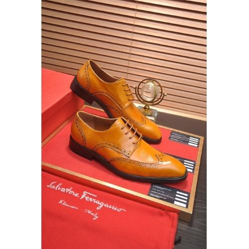 Ferragamo Salvatore FS Leather Shoes For Men #830524