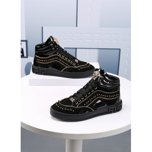 Versace High Tops Shoes For Men #830560