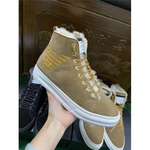 Armani High Tops Shoes For Men #830585