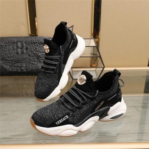 Versace Casual Shoes For Men #830607 $82.00 USD, Wholesale Replica Versace Casual Shoes