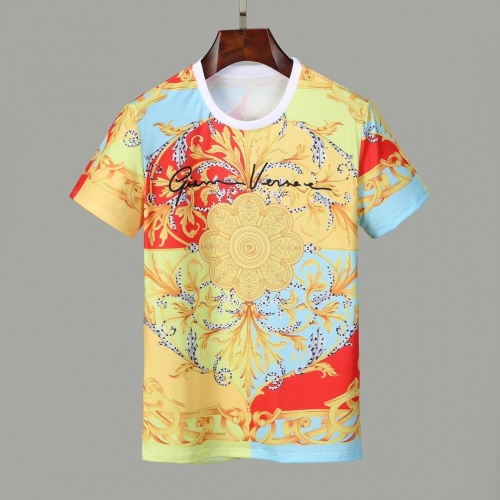 Versace T-Shirts Short Sleeved O-Neck For Men #830794