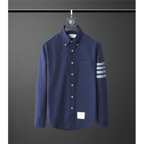 Thom Browne TB Shirts Long Sleeved Polo For Men #831117