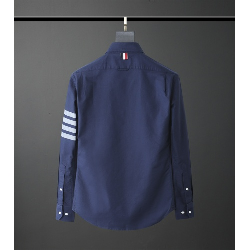 Replica Thom Browne TB Shirts Long Sleeved Polo For Men #831117 $80.00 USD for Wholesale