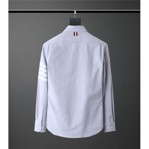 Replica Thom Browne TB Shirts Long Sleeved Polo For Men #831118 $80.00 USD for Wholesale