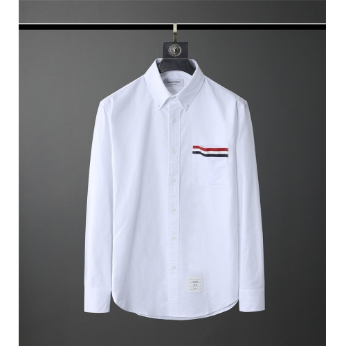 Thom Browne TB Shirts Long Sleeved Polo For Men #831123