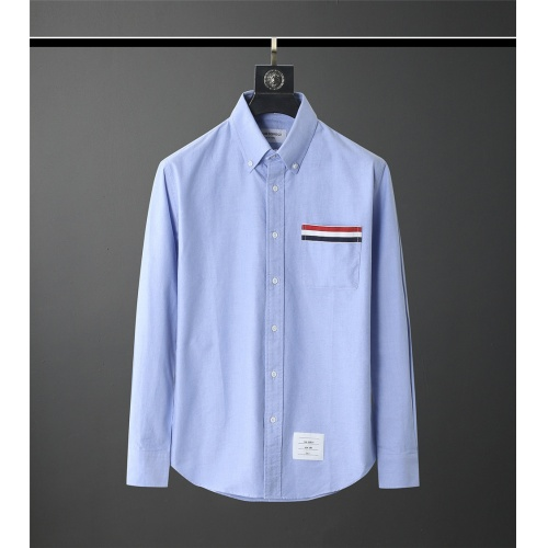 Thom Browne TB Shirts Long Sleeved Polo For Men #831124