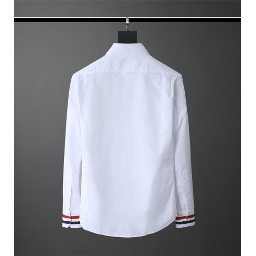 Replica Thom Browne TB Shirts Long Sleeved Polo For Men #831125 $80.00 USD for Wholesale