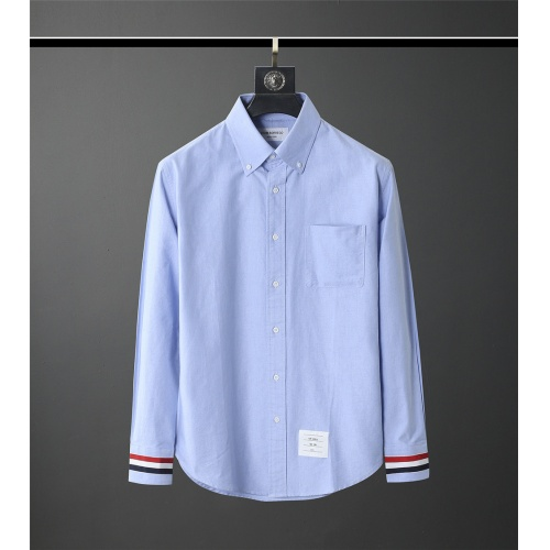 Thom Browne TB Shirts Long Sleeved Polo For Men #831126