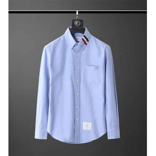 Thom Browne TB Shirts Long Sleeved Polo For Men #831127