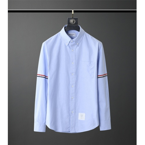 Thom Browne TB Shirts Long Sleeved Polo For Men #831129 $80.00, Wholesale Replica Thom Browne TB Shirts