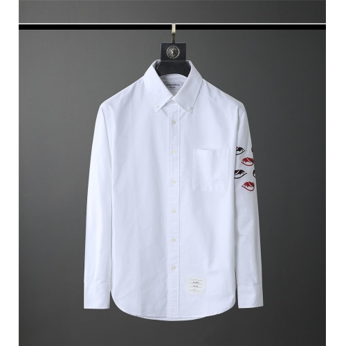 Thom Browne TB Shirts Long Sleeved Polo For Men #831131
