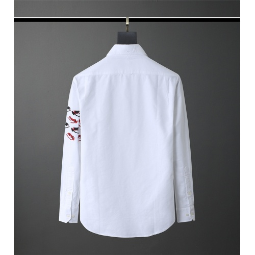 Replica Thom Browne TB Shirts Long Sleeved Polo For Men #831131 $80.00 USD for Wholesale