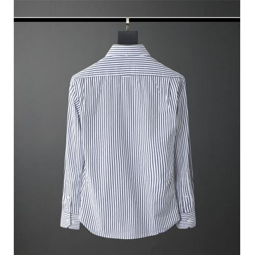Replica Thom Browne TB Shirts Long Sleeved Polo For Men #831134 $80.00 USD for Wholesale