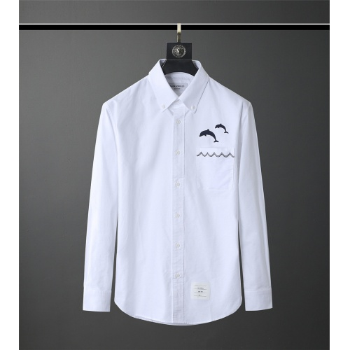 Thom Browne TB Shirts Long Sleeved Polo For Men #831137
