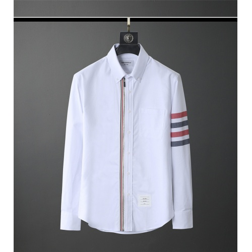 Thom Browne TB Shirts Long Sleeved Polo For Men #831138