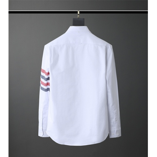 Replica Thom Browne TB Shirts Long Sleeved Polo For Men #831138 $80.00 USD for Wholesale