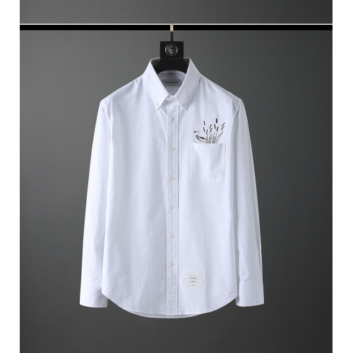 Thom Browne TB Shirts Long Sleeved Polo For Men #831139