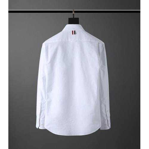 Replica Thom Browne TB Shirts Long Sleeved Polo For Men #831139 $80.00 USD for Wholesale