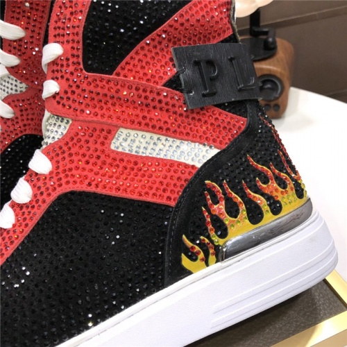 Replica Philipp Plein PP High Tops Shoes For Men #831148 $105.00 USD for Wholesale