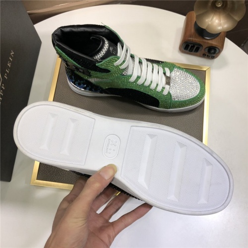 Replica Philipp Plein PP High Tops Shoes For Men #831152 $105.00 USD for Wholesale