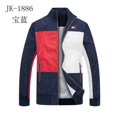 Tommy Hilfiger TH Jackets Long Sleeved Zipper For Men #831257 $40.00 USD, Wholesale Replica Tommy Hilfiger TH Jackets
