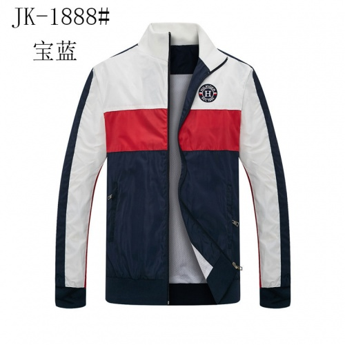 Tommy Hilfiger TH Jackets Long Sleeved Zipper For Men #831260 $40.00 USD, Wholesale Replica Tommy Hilfiger TH Jackets
