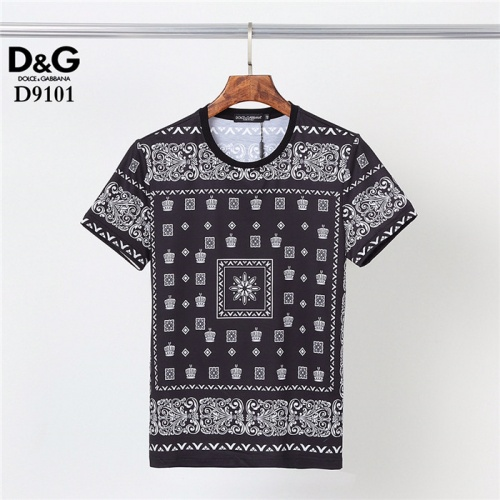 Dolce & Gabbana D&G T-Shirts Short Sleeved O-Neck For Men #831296