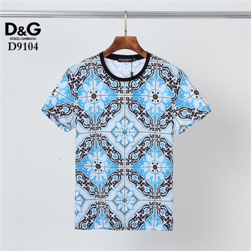 Dolce & Gabbana D&G T-Shirts Short Sleeved O-Neck For Men #831298 $30.00 USD, Wholesale Replica Dolce & Gabbana D&G T-Shirts