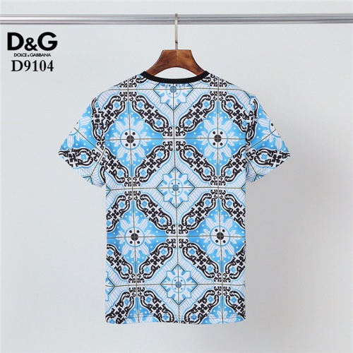 Replica Dolce & Gabbana D&G T-Shirts Short Sleeved O-Neck For Men #831298 $30.00 USD for Wholesale