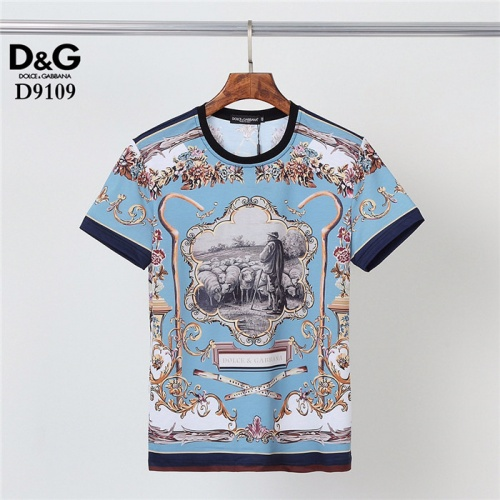 Dolce & Gabbana D&G T-Shirts Short Sleeved O-Neck For Men #831302 $30.00 USD, Wholesale Replica Dolce & Gabbana D&G T-Shirts