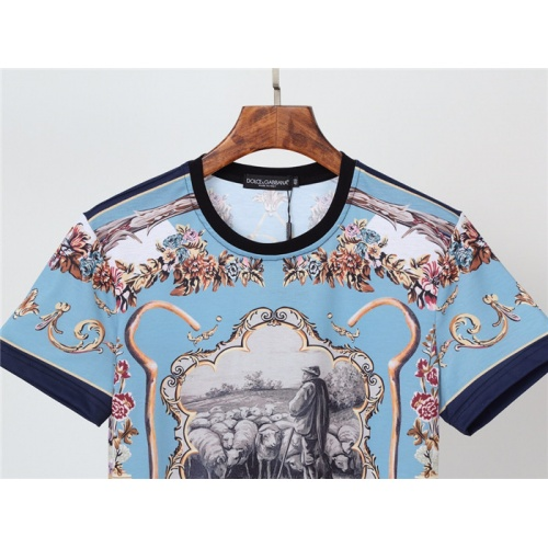 Replica Dolce & Gabbana D&G T-Shirts Short Sleeved O-Neck For Men #831302 $30.00 USD for Wholesale
