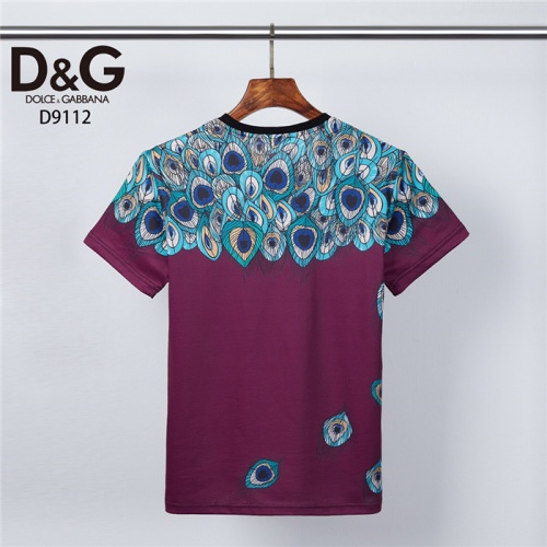 Replica Dolce & Gabbana D&G T-Shirts Short Sleeved O-Neck For Men #831306 $30.00 USD for Wholesale