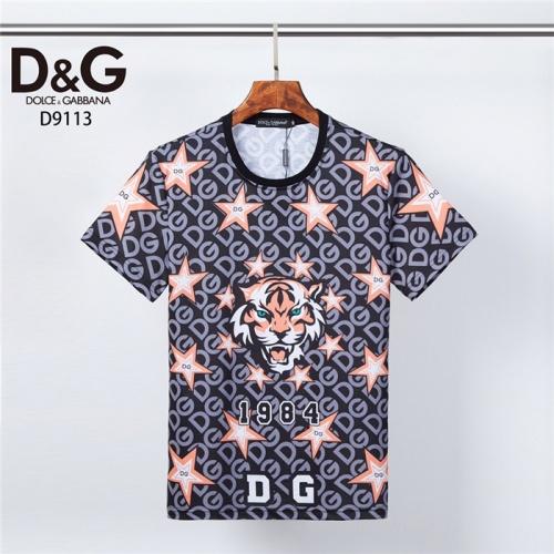 Dolce & Gabbana D&G T-Shirts Short Sleeved O-Neck For Men #831308 $30.00 USD, Wholesale Replica Dolce & Gabbana D&G T-Shirts