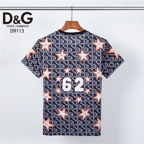 Replica Dolce & Gabbana D&G T-Shirts Short Sleeved O-Neck For Men #831308 $30.00 USD for Wholesale