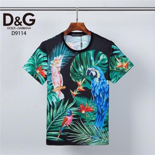 Dolce & Gabbana D&G T-Shirts Short Sleeved O-Neck For Men #831309 $30.00 USD, Wholesale Replica Dolce & Gabbana D&G T-Shirts
