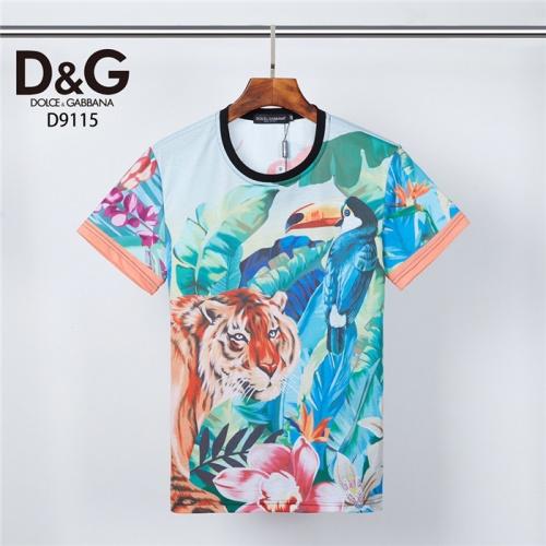 Dolce & Gabbana D&G T-Shirts Short Sleeved O-Neck For Men #831310 $30.00, Wholesale Replica Dolce & Gabbana D&G T-Shirts