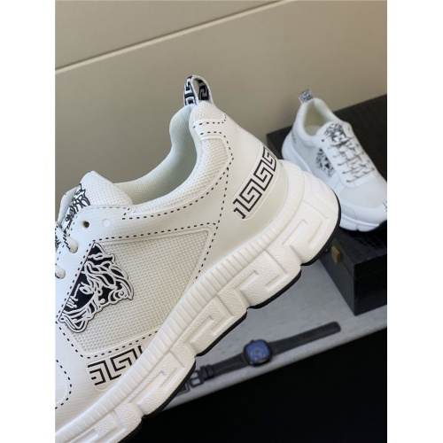 Replica Versace Casual Shoes For Men #831458 $76.00 USD for Wholesale