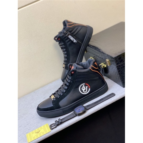 Armani High Tops Shoes For Men #831462