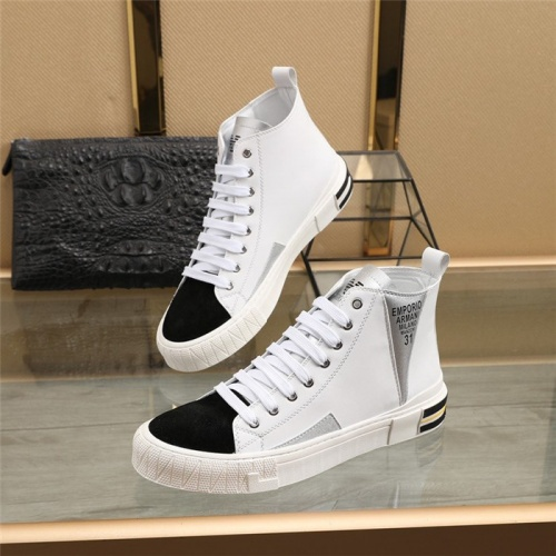 Armani High Tops Shoes For Men #831478